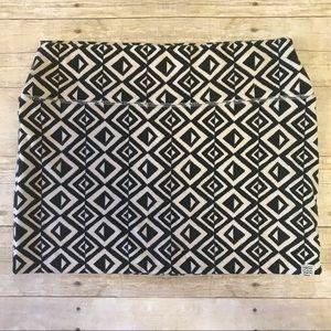 Billabong Geometric Diamond B&W Stretch Mini Skirt
